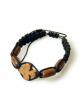 Сутажный браслет с молитвами, самшит (ДГ-Б5090)