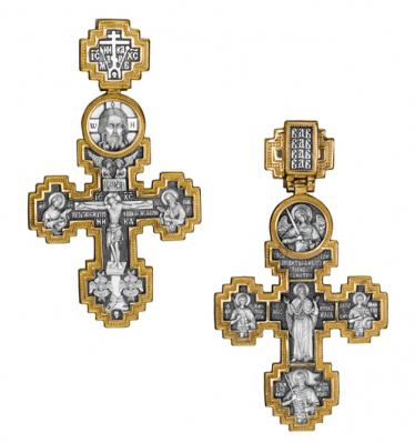 """Крест """"Распятие. Святой Пророк Илия"""""""