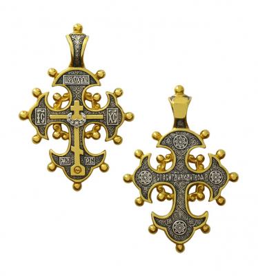 Крест с кринообразными концами